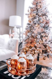Cute Pink Christmas Tree Decoration Ideas You Will Totally Love 48