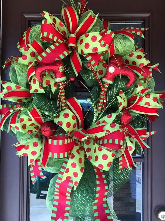 Excellent Christmas Wearth Decoration For Your Door 43