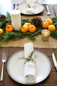 Eye Catching Kitchen Table Christmas Decoration Ideas 03