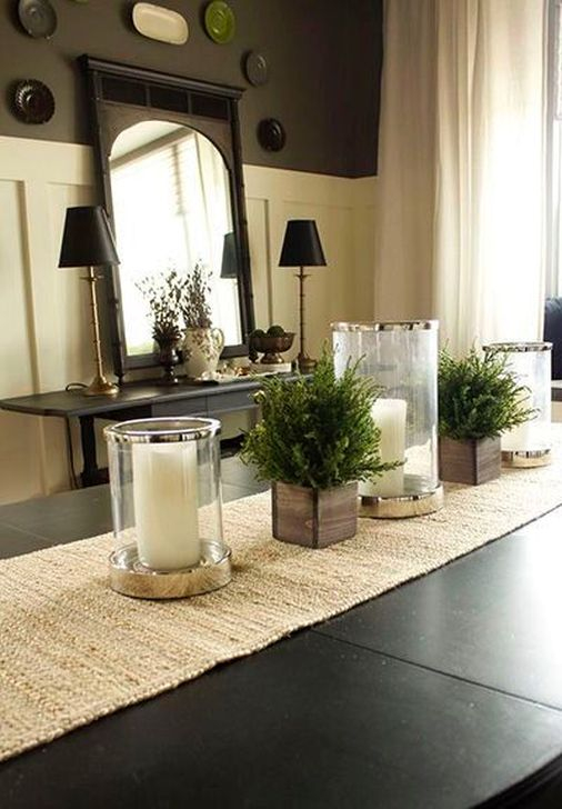 Eye Catching Kitchen Table Christmas Decoration Ideas 07