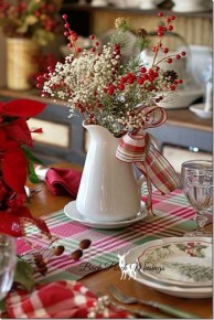Eye Catching Kitchen Table Christmas Decoration Ideas 12