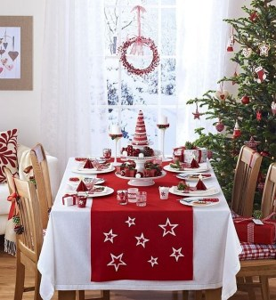 Eye Catching Kitchen Table Christmas Decoration Ideas 17