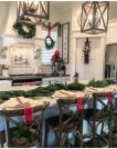 Eye Catching Kitchen Table Christmas Decoration Ideas 43