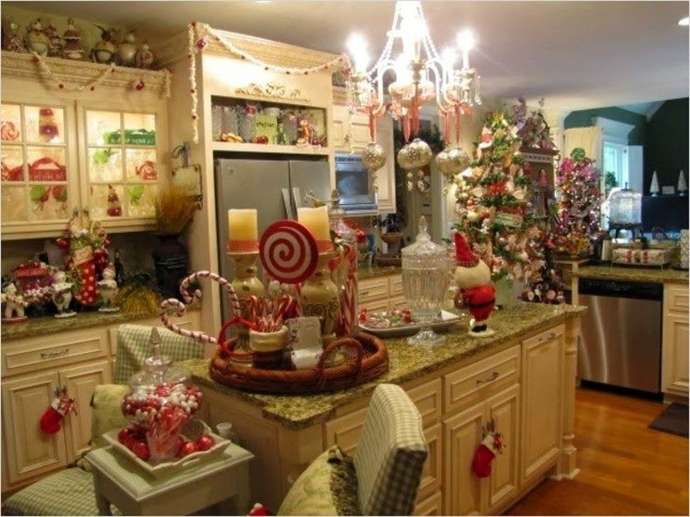 Cool 51 Fabulous Kitchen Christmas Decoration Ideas Homystyle Home Interior And Landscaping Ferensignezvosmurscom