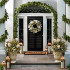 Marvelous Christmas Entryway Decoration Ideas 10