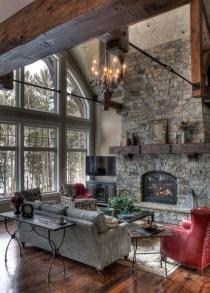 Popular Winter Living Room Design For Inspiration 35