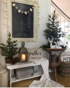 Rustic Farmhouse Christmas Decoration Ideas 23