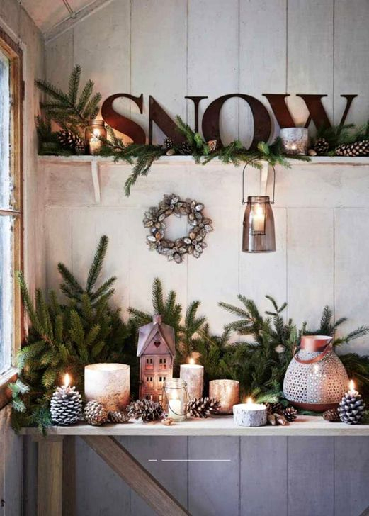 Rustic Farmhouse Christmas Decoration Ideas 47