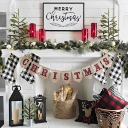 Smart Fireplace Christmas Decoration Ideas 22