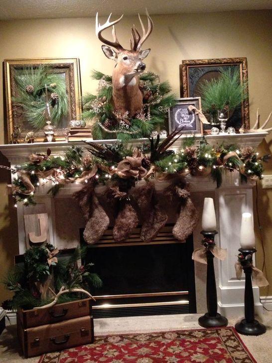 Smart Fireplace Christmas Decoration Ideas 47