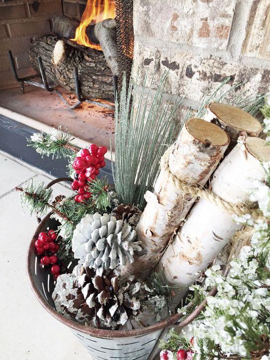Smart Fireplace Christmas Decoration Ideas 48