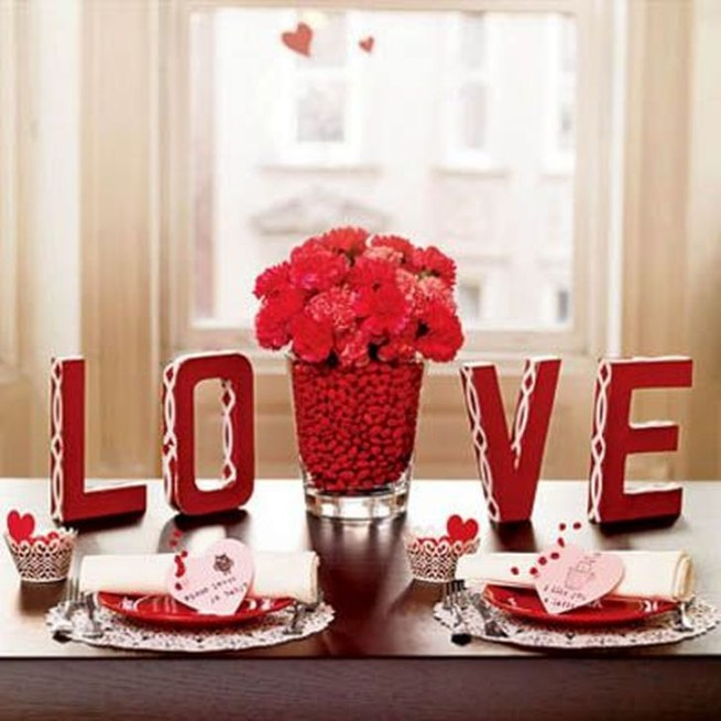 Beautiful Valentines Day Table Decoration Ideeas 46