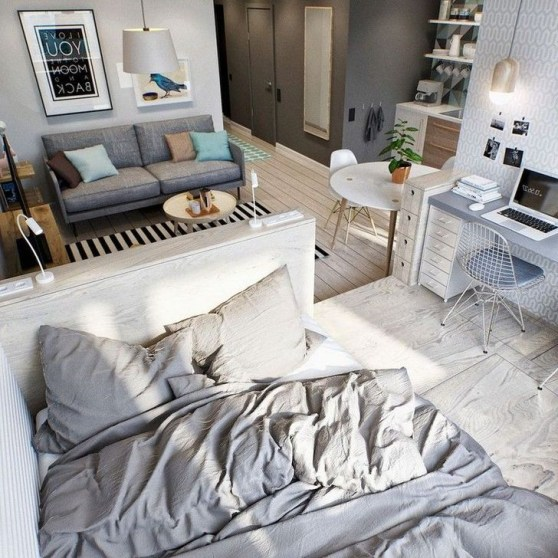 Brilliant Studio Apartment Decor Ideas On A Budget 47
