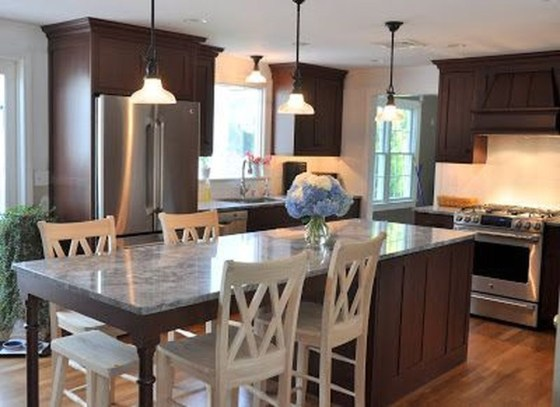 Cool Kitchen Island Design Ideas 30