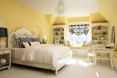 Delightful Yellow Bedroom Decoration And Design Ideas 30