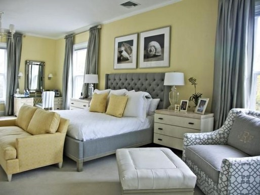 Delightful Yellow Bedroom Decoration And Design Ideas 40