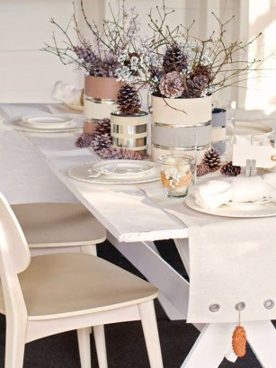 Extraordinary Winter Table Decoration You Can Make 26