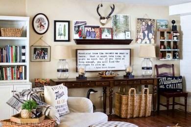 Gorgeous Winter Family Room Design Ideas 20