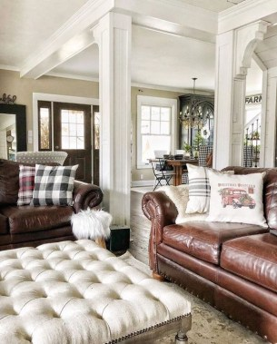 Gorgeous Winter Family Room Design Ideas 24