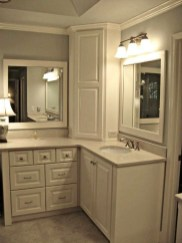 Simple But Modern Bathroom Storage Design Ideas 10