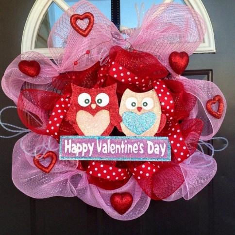 Wonderful DIY Valentines Wreath Decor Ides 42