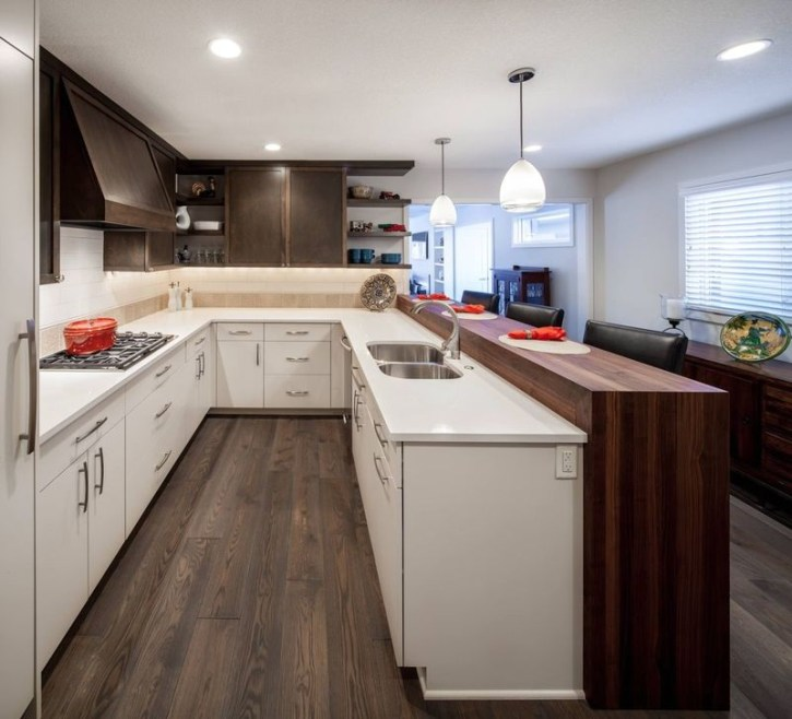 Creative U Shaped Kitchen Remodel Ideas 30