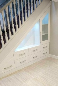 Genius Storage Ideas For Under Stairs 39