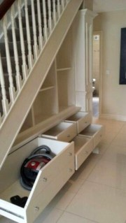 Genius Storage Ideas For Under Stairs 53