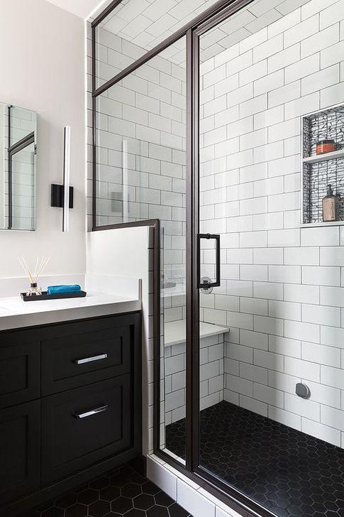 The Best Ideas Black Shower Tiles Design 20