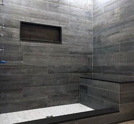 The Best Ideas Black Shower Tiles Design 24