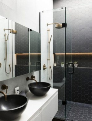 The Best Ideas Black Shower Tiles Design 42