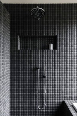The Best Ideas Black Shower Tiles Design 43