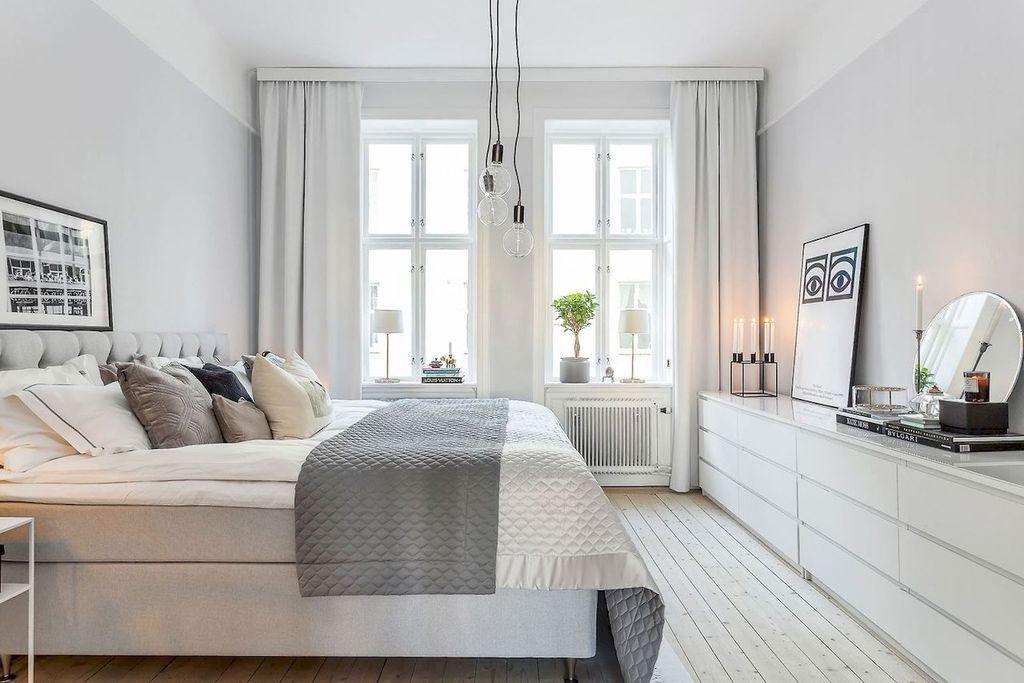 Superb 51 Cool Scandinavian Bedroom Design Ideas Homystyle Download Free Architecture Designs Grimeyleaguecom
