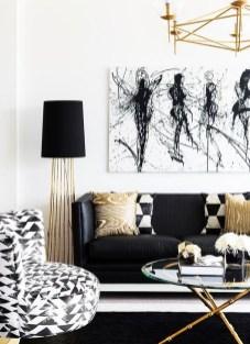 Cozy Black And White Living Room Design Ideas 35