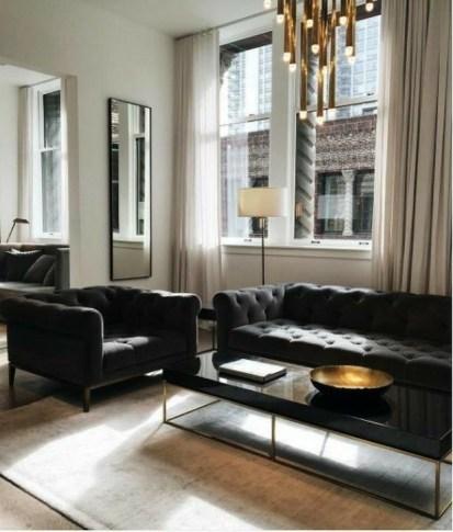 Cozy Black And White Living Room Design Ideas 46