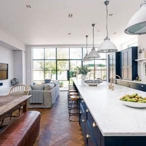 Elegant Navy Kitchen Cabinets For Decorating Your Kitchen 01