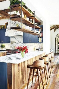 Elegant Navy Kitchen Cabinets For Decorating Your Kitchen 14