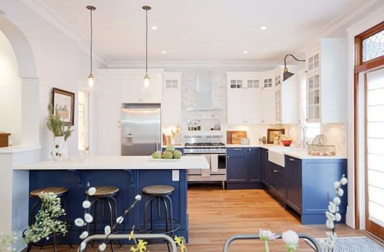 Elegant Navy Kitchen Cabinets For Decorating Your Kitchen 15