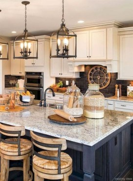 Elegant Navy Kitchen Cabinets For Decorating Your Kitchen 16