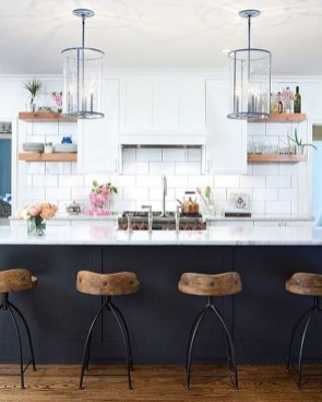 Elegant Navy Kitchen Cabinets For Decorating Your Kitchen 17