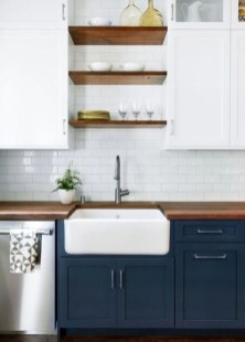 Elegant Navy Kitchen Cabinets For Decorating Your Kitchen 22