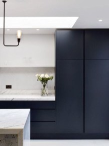 Elegant Navy Kitchen Cabinets For Decorating Your Kitchen 29