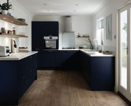Elegant Navy Kitchen Cabinets For Decorating Your Kitchen 39