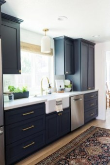 Elegant Navy Kitchen Cabinets For Decorating Your Kitchen 40