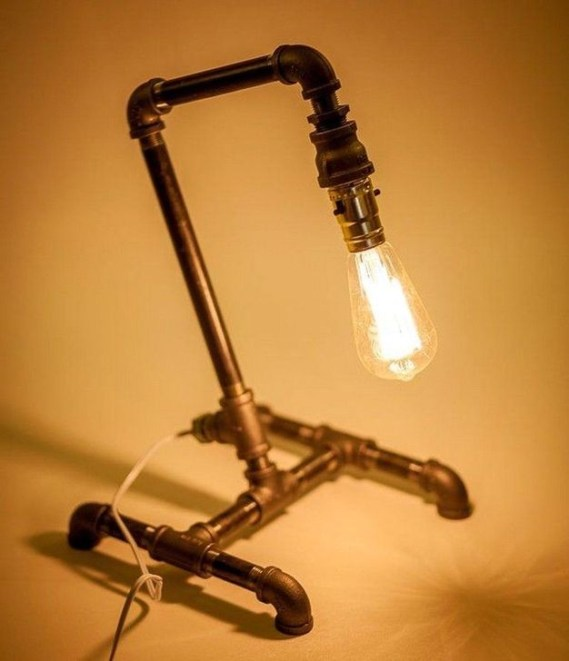 Fascinating Industrial Pipe Lamp For Home 50