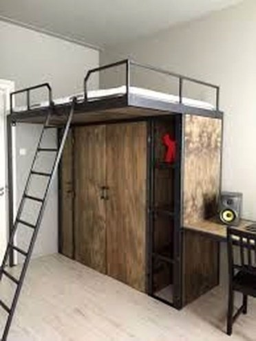 Modern Style For Industrial Bedroom Design Ideas 26