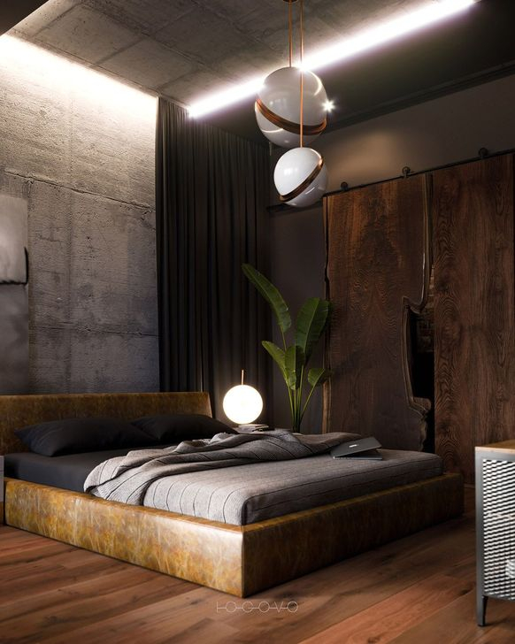 Modern Style For Industrial Bedroom Design Ideas 42