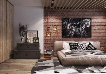 Modern Style For Industrial Bedroom Design Ideas 43