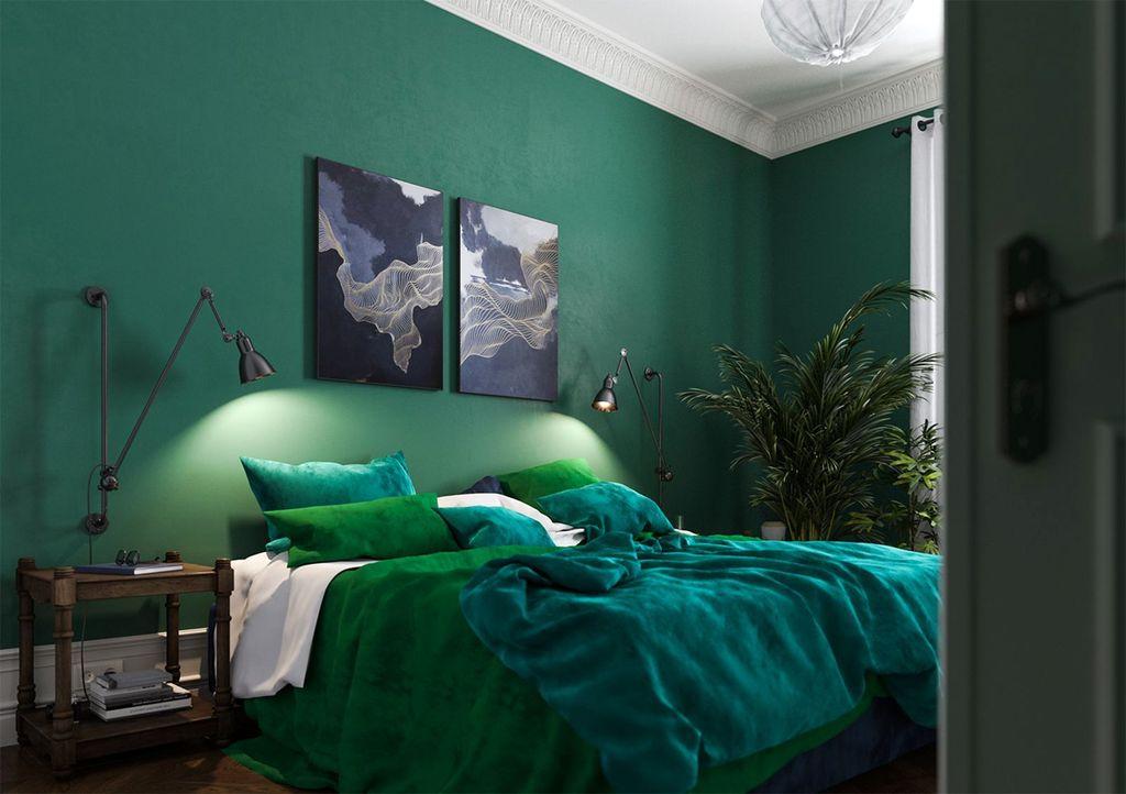 Natural Green Bedroom Design Ideas 15