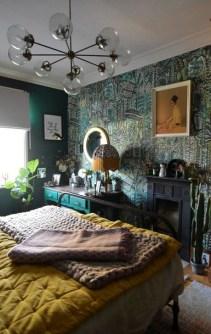 Natural Green Bedroom Design Ideas 19